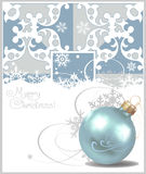 Christmas balls. Crey Background. Vector drawing Royalty Free Stock Photography