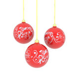 Christmas balls with curl Royalty Free Stock Photography