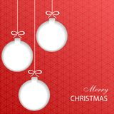 Paper Christmas balls. Christmas balls cut out of paper. Template for Christmas and New Year cards. Festive background. Vector illustration Stock Images
