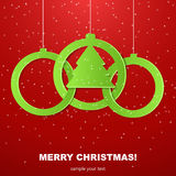 Christmas balls cut from paper. Royalty Free Stock Photography