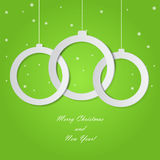 Christmas balls cut from paper. Royalty Free Stock Images