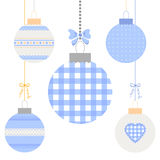 Christmas balls. Cute Christmas balls set in flat style. Great for New year and Christmas design. Vector illustration Royalty Free Stock Photos