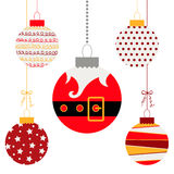 Christmas balls. Cute Christmas balls set in flat style. Great for New year and Christmas design. Vector illustration Stock Image