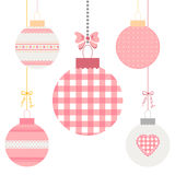 Christmas balls. Cute Christmas balls set in flat style. Great for New year and Christmas design. Vector illustration Stock Images