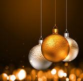 Christmas balls on dark background Stock Photography