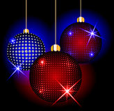 Christmas balls on a dark background Royalty Free Stock Photography