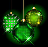 Christmas balls on a dark background Stock Photography