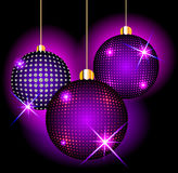Christmas balls on a dark background Royalty Free Stock Photos
