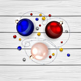 Christmas balls and decorate elements Royalty Free Stock Photo