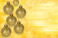 Christmas balls decoration on abstract bokeh background. stock image