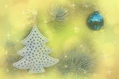 Christmas balls decoration on abstract bokeh background. stock photos