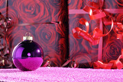 Christmas balls with decoration Royalty Free Stock Photo