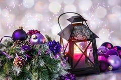Christmas balls with decoration Stock Photos