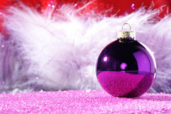 Christmas balls with decoration Royalty Free Stock Image