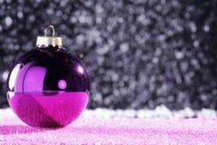 Christmas balls with decoration Stock Image