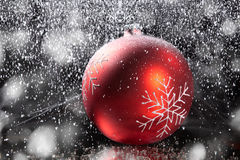 Christmas balls with decoration Royalty Free Stock Images