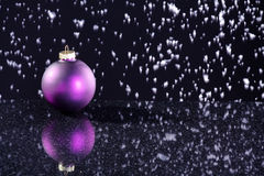 Christmas balls with decoration Stock Image