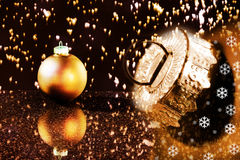 Christmas balls with decoration Stock Images