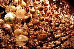 Christmas balls decoration, Vienna market, Austria Royalty Free Stock Photos