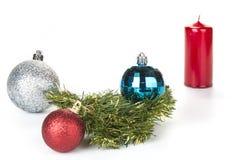 Christmas balls decoration on a white background. royalty free stock photo
