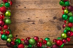 Christmas decoration on a wooden background Royalty Free Stock Photography