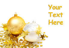 Christmas balls and decorations Royalty Free Stock Images