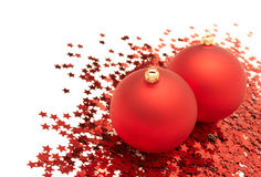Christmas balls and decorations Stock Images