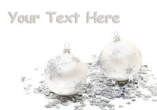 Christmas balls and decorations Stock Photography
