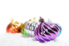 Christmas balls decorations Stock Image