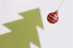 Christmas balls decorations abd christmas tree Royalty Free Stock Photography