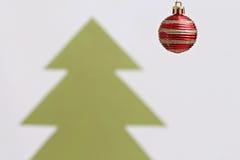 Christmas balls decorations abd christmas tree Royalty Free Stock Photo