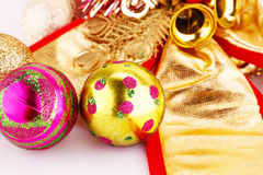 Christmas balls and decorations Stock Image