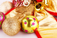 Christmas balls and decorations Royalty Free Stock Photos