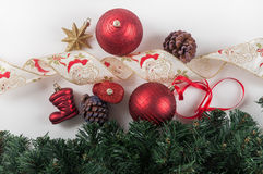 Christmas balls and decorations Royalty Free Stock Photography