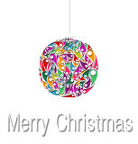 Christmas balls decorations. Vector illustration. Stock Photos