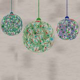 Christmas balls decorations. Vector illustration. Stock Images