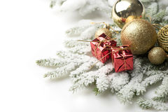 Christmas balls and decorations Royalty Free Stock Photo
