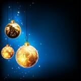 Christmas balls design Stock Images