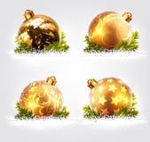 Christmas balls design Stock Photos