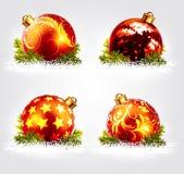 Christmas balls design Royalty Free Stock Photography