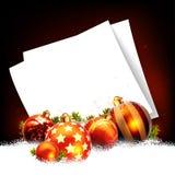 Christmas balls design Stock Image