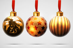 Christmas balls design Royalty Free Stock Images