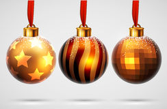 Christmas balls design Royalty Free Stock Image