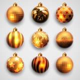 Christmas balls design Stock Photography