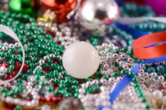 Christmas balls with diamonds set, new year decoration Royalty Free Stock Photo