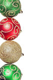 Christmas balls of different colors and decoration Royalty Free Stock Image