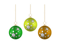 Christmas balls in different colors Royalty Free Stock Photography