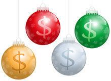 Christmas Balls Dollar Sign Stock Photos