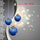 Christmas balls. Christmas balls with elegance style background. Vector Illustration, EPS 10 Stock Images