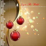 Christmas balls. Christmas balls with elegance style background. Vector Illustration, EPS 10 Royalty Free Stock Photos